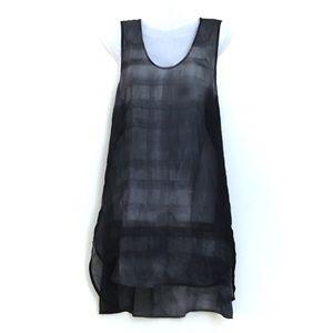 Eileen Fisher 100% Silk Tie Dye Tank Top